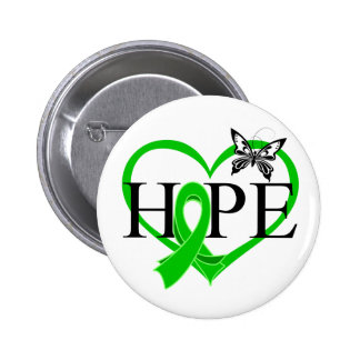 Bile Duct Cancer Hope Butterfly Heart Décor Button