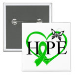 Bile Duct Cancer Hope Butterfly Heart Décor Buttons