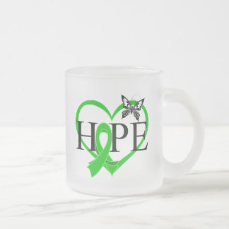 Bile Duct Cancer Hope Butterfly Heart Décor 10 Oz Frosted Glass Coffee Mug