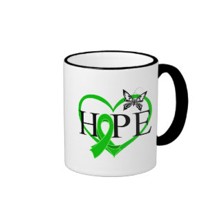Bile Duct Cancer Hope Butterfly Heart Décor Ringer Coffee Mug