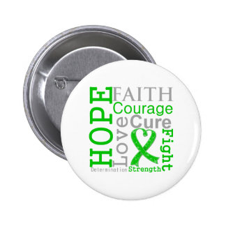 Bile Duct Cancer Hope Faith Motto Pinback Buttons