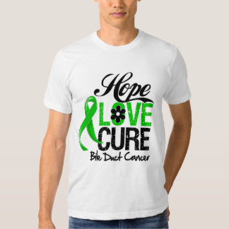 Bile Duct Cancer Hope Love Cure Shirt
