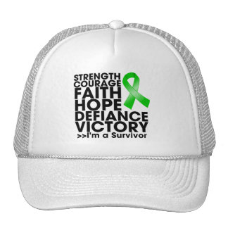 Bile Duct Cancer Hope Strength Victory Mesh Hats
