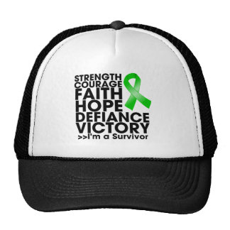 Bile Duct Cancer Hope Strength Victory Trucker Hats