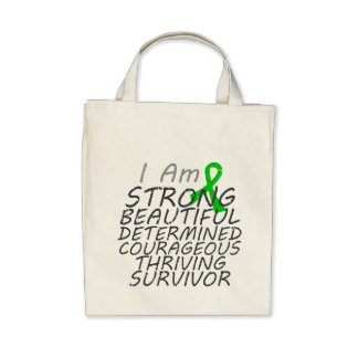 Bile Duct Cancer I Am Strong Survivor Canvas Bags