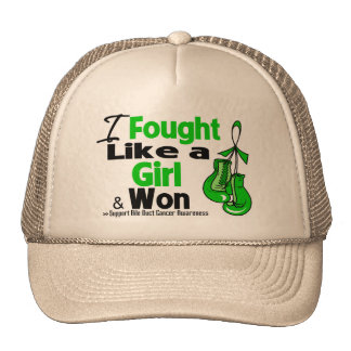 Bile Duct Cancer I Fought Like a Girl and Won Trucker Hats