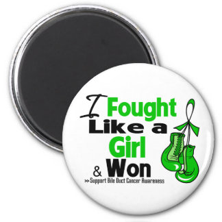 Bile Duct Cancer I Fought Like a Girl and Won Fridge Magnets