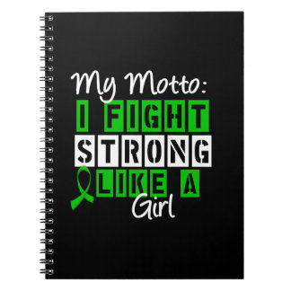 Bile Duct Cancer I Fought Strong Like a Girl Motto Journals