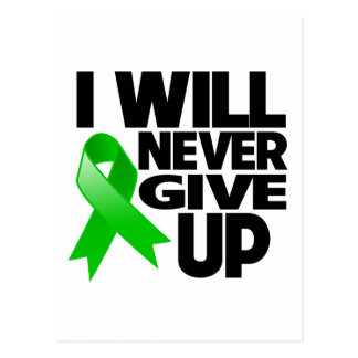 Bile Duct Cancer I Will Never Give Up Postcard