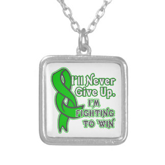 Bile Duct Cancer I'll Never Give Up Silver Plated Necklace