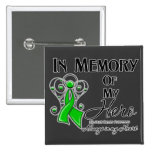 Bile Duct Cancer In Memory of My Hero 2 Inch Square Button