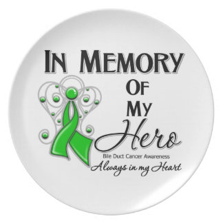 Bile Duct Cancer In Memory of My Hero Plates