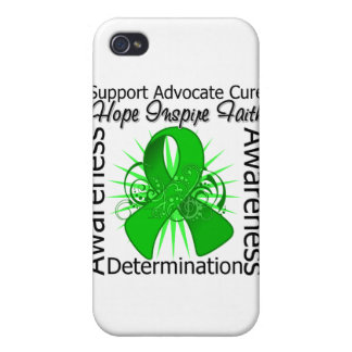 Bile Duct Cancer Inspirations Spiral Ribbon iPhone 4/4S Cases