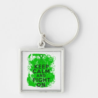Bile Duct Cancer Keep Calm and Fight On Keychain