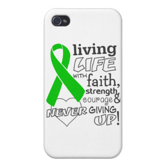 Bile Duct Cancer Living Life With Faith iPhone 4 Cover