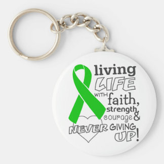 Bile Duct Cancer Living Life With Faith Key Chain