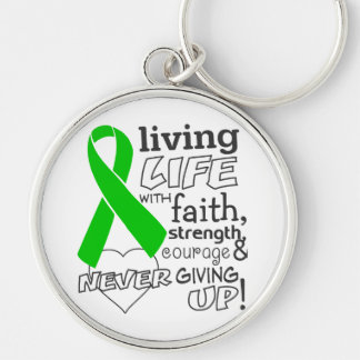 Bile Duct Cancer Living Life With Faith Keychains