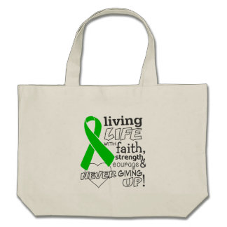 Bile Duct Cancer Living Life With Faith Tote Bag