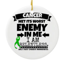 Bile Duct Cancer Met Its Worst Enemy in Me Ceramic Ornament