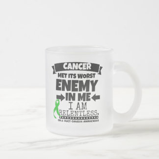 Bile Duct Cancer Met Its Worst Enemy in Me Frosted Glass Coffee Mug