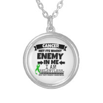 Bile Duct Cancer Met Its Worst Enemy in Me Silver Plated Necklace