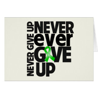 Bile Duct Cancer Never Ever Give Up Greeting Card