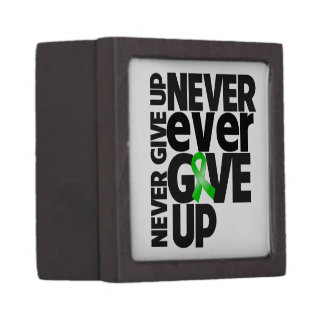 Bile Duct Cancer Never Ever Give Up Premium Keepsake Boxes