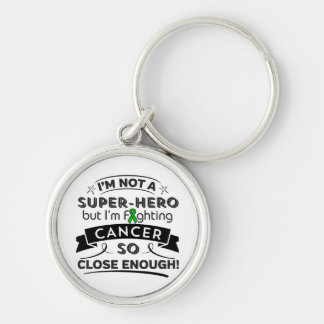 Bile Duct Cancer Not a Super-Hero Silver-Colored Round Keychain