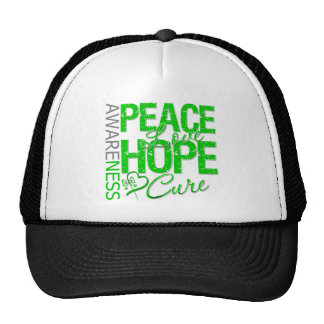 Bile Duct Cancer Peace Love Cure Trucker Hat