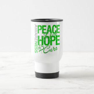 Bile Duct Cancer Peace Love Cure 15 Oz Stainless Steel Travel Mug