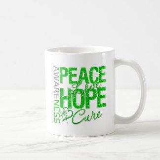 Bile Duct Cancer Peace Love Cure Classic White Coffee Mug
