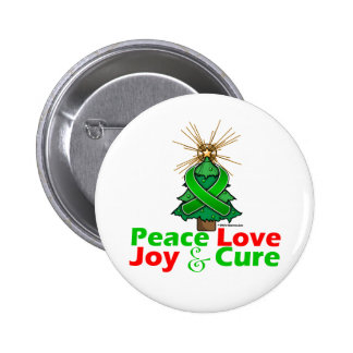 Bile Duct Cancer Peace Love Joy Cure Pinback Buttons
