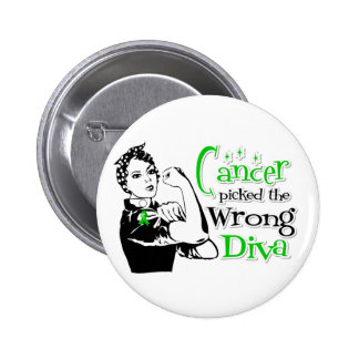 Bile Duct Cancer Picked The Wrong Diva 2 Inch Round Button