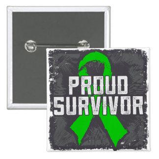 Bile Duct Cancer Proud Survivor Pinback Buttons