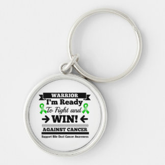Bile Duct Cancer Ready To Fight and Win Silver-Colored Round Keychain