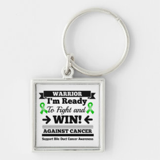 Bile Duct Cancer Ready To Fight and Win Silver-Colored Square Keychain
