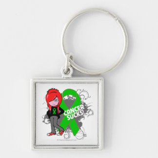 Bile Duct Cancer Sucks Silver-Colored Square Keychain