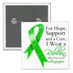 Bile Duct Cancer Support Hope Awareness Pinback Button