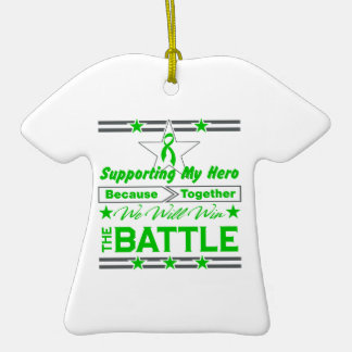 Bile Duct Cancer Supporting My Hero Double-Sided T-Shirt Ceramic Christmas Ornament