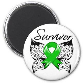 Bile Duct Cancer Survivor Butterfly Fridge Magnets