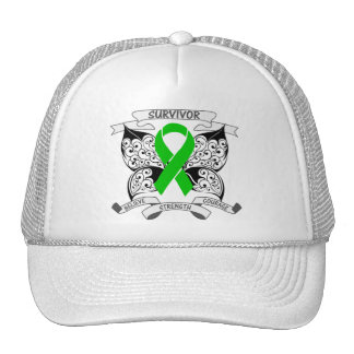 Bile Duct Cancer Survivor Butterfly Strength Trucker Hats