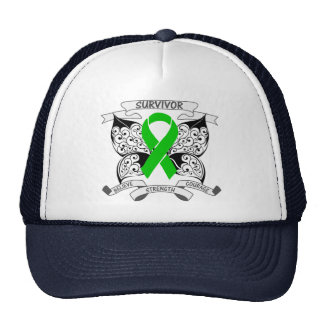 Bile Duct Cancer Survivor Butterfly Strength Mesh Hat