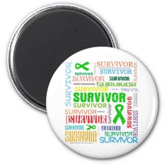 Bile Duct Cancer Survivor Collage.png Refrigerator Magnet