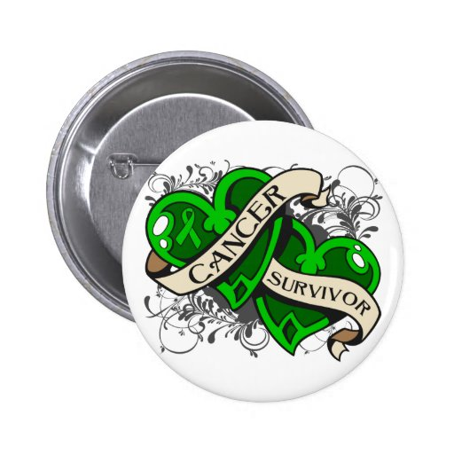Bile Duct Cancer Survivor Dual Hearts Pinback Button