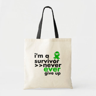 Bile Duct Cancer Survivor Never Give Up Tote Bags