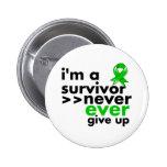 Bile Duct Cancer Survivor Never Give Up Pinback Button