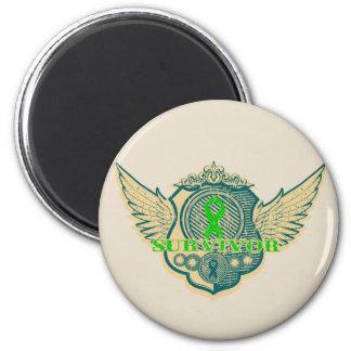 Bile Duct Cancer Survivor Vintage Winged 2 Inch Round Magnet