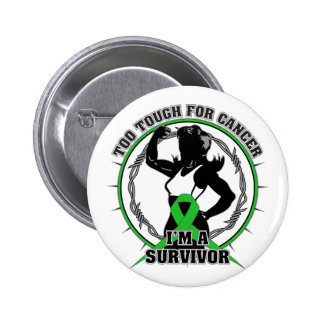 Bile Duct Cancer Too Tough For Cancer 2 Inch Round Button