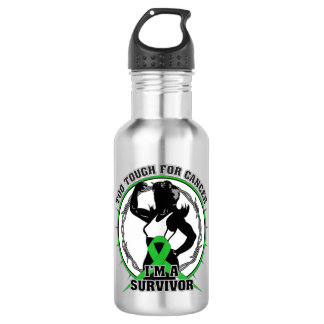Bile Duct Cancer Too Tough For Cancer 18oz Water Bottle