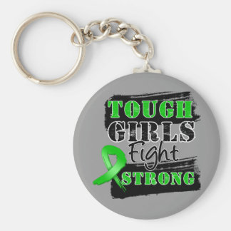 Bile Duct Cancer Tough Girls Fight Strong Keychain